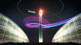 大气震撼质感科技线条城市杭州视频素材