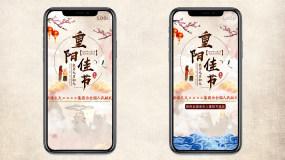 九九重阳节主题抖音快手祝福短视频动画AE模板