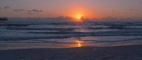 超清夕陽海邊海水素材海邊視頻素材