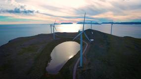 【4K】風力發電風車視頻素材