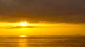 清晨福建海面日出從黎明到日出視頻素材