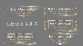 原创5款晚会节目单AE字幕条金属字010AE模板