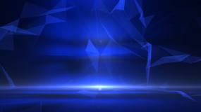 蓝色3D空间科技感背景视频视频素材