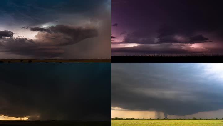 壮丽的风暴云来临-雷电风卷云涌