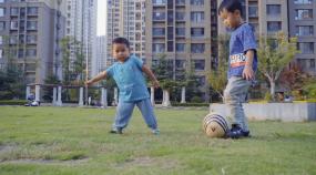 社区生活-幸福家园-老人孩子-居民楼视频素材包
