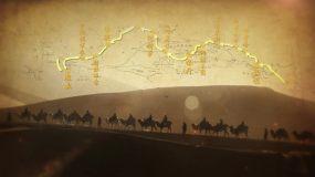 古代丝绸之路地图-2AE模板