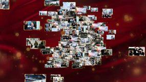 建國70照片匯聚片頭AE模板
