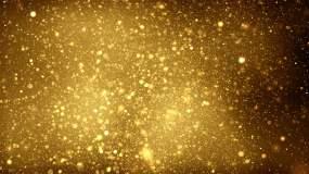 香槟金大气简约光效粒子背景视频素材