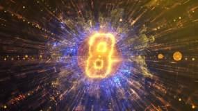金色粒子10秒倒計時視頻素材