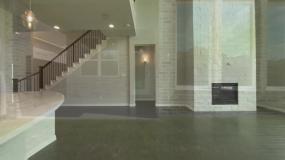 三维动画别墅空房装修效果视频素材