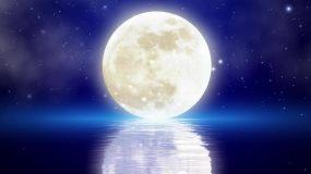 唯美月亮LED舞台背景视频素材