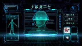 科技电子卡证人脸识别人物扫描视频素材