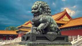 中国北京地标城市经济北京航拍视频素材
