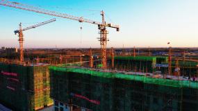 建筑工地建设发展视频素材