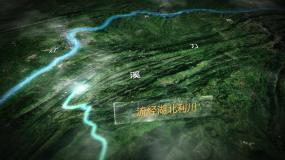 【无插件】水域支流地图AE模板