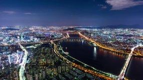 城市日出霞光4k视频素材