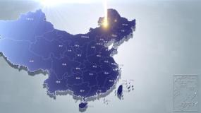 标准地图安徽地图中国地图世界地图辐射覆盖视频素材