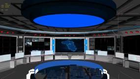 智慧城市指挥大厅城市应急指挥中心3Dmax