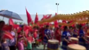 广西新农村宾阳冯村村庆群众看表演视频素材包
