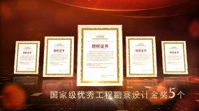 红色党政荣誉奖牌展示AE模板