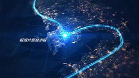 科技城市夜景俯冲辐射包装AE模板