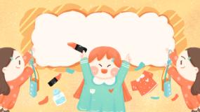 可爱清新女孩购物礼物插画动画背景视频永利官网网址是多少