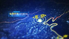 永利官网网址中国区域地图科技展示AE模板AE模板