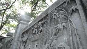 古琴台古风建筑屋檐素材视频素材