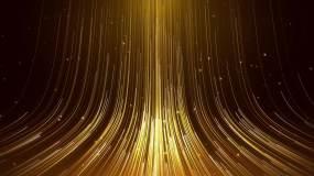 大气金色光线流动上升循环背景视频素材
