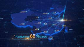 中国地图辐射全国ae模板02AE模板