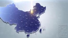 标准地图湖南地图中国地图世界地图辐射覆盖视频素材