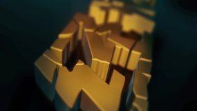 3D文字破碎汇聚特效AE模板
