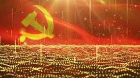 党政金色粒子背景视频素材