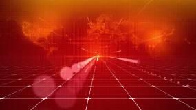 红色科技年会颁奖地图LED背景视频视频素材