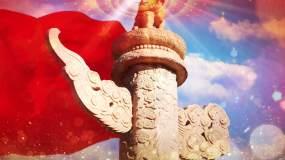 红旗飘飘配乐成品视频素材