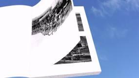 翻书展示三代人交通工具的变迁【视频素材】视频素材