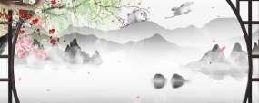 水墨山水画-无缝循环视频素材