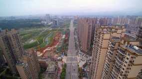 4K航拍城市高楼建筑视频素材