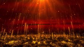 大气粒子红绸布料飘动年会新年喜庆背景循环视频素材