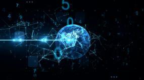 数字地球云计算5G时代人工智视频素材