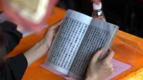 修行僧人寺庙佛像菩提渡大雄宝殿视频素材