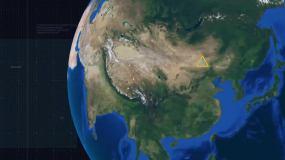辐射中国地图视频素材包