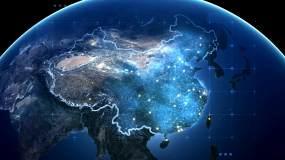 连接科技光线光束数据网络信视频素材