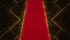 地面投影红色地毯视频素材