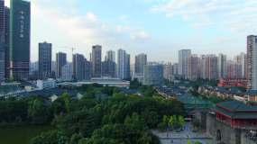 航拍巴国城4k视频素材