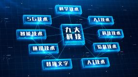 科技分类第四版九大类别AE模板