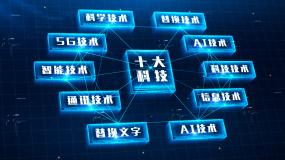 科技分类第四版十大类别AE模板