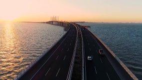 青岛胶州湾跨海大桥视频素材