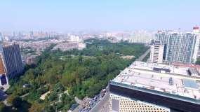 淄博人民公园航拍视频素材