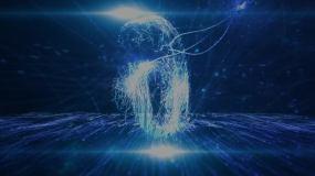 2020科技粒子光线倒计时AE模板